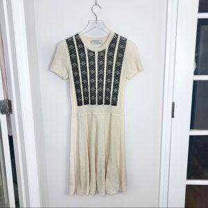 Valentino Guipure Lace Short Sleeve Dress